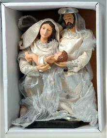Sfânta familie, argintiu, 20 cm