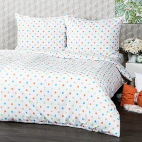 Lenjerie de pat 4Home Dots, din bumbac portocaliu, 140 x 200 cm, 70 x 90 cm