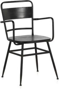 Scaun din metal Geese Industrial Style Derro, negru
