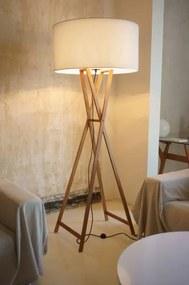 Cala P180 - Lampă de podea maro din lemn