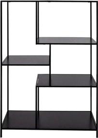 Bibliotecă House Nordic Vita Shelf, 80 x 120 cm, negru