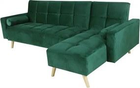Canapea Maloni extensibila pe dreapta, 3 locuri, verde
