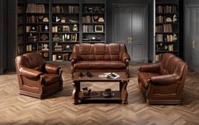 Canapea cu piele 3 locuri Parma – L 195 x l96 x h95 cm