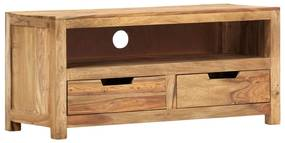 285813 vidaXL Comodă TV, 88 x 35 x 40 cm, lemn masiv de sheesham