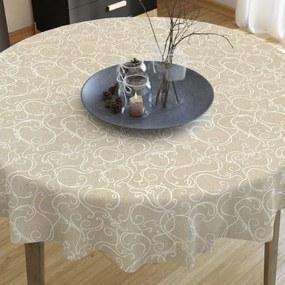 Goldea față de masă decorativă loneta - model 294 - rotundă Ø 70 cm