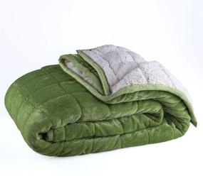 Pătură matlasată OIŢĂ verde 150 x 200 cm