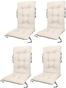Set Perne pentru scaun de gradina sau sezlong, 48x48x75cm, culoare alb, 4 buc/set