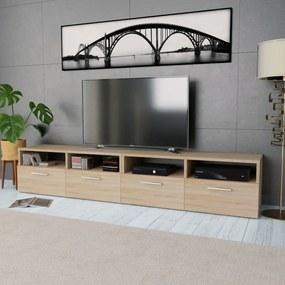 275111 vidaXL Comode TV 2 buc, PAL, 95 x 35 x 36 cm, culoarea stejarului