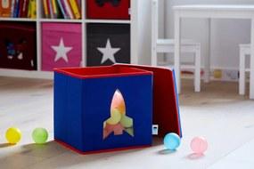 Cutie cu capac pentru depozitare albastru - Rocket