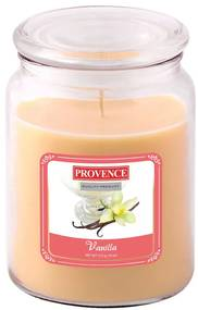 Lumânare în sticlă cu capac, vanilie