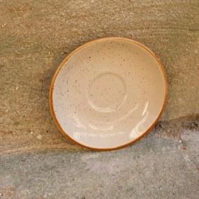 Farfurie pentru ceasca Gardena din ceramica crem 14 cm