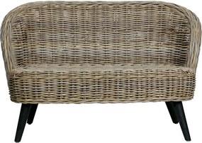 Canapea din ratan maro Sara Woood