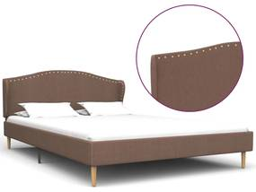 280653 vidaXL Cadru de pat, maro, 120 x 200 cm, material textil