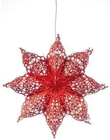 Markslöjd 702561 - Decorațiune de crăciun HALL 1xE14/25W/230V roșu 70 cm