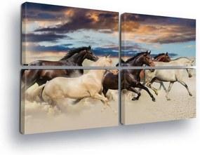 GLIX Tablou - Horse Hero 4 x 60x40 cm