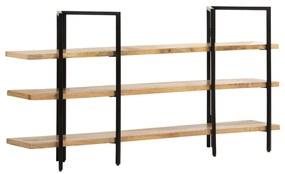 286604 vidaXL Bibliotecă cu 3 niveluri, 160x31x80 cm, lemn masiv de mango
