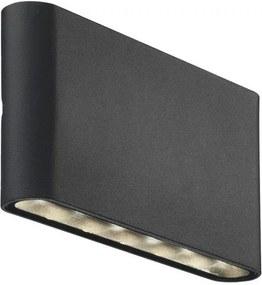 Aplica LED neagra din metal cu 2 becuri pentru exterior Kinver Black Nordlux