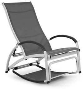Beverly Wood, leagăn de soare, scaun balansoar, aluminiu, gri
