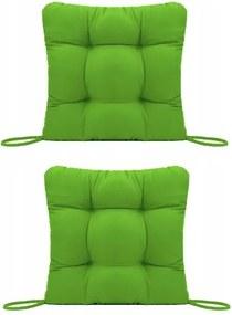 Set Perne decorative pentru scaun de bucatarie sau terasa, dimensiuni 40x40cm, culoare Verde, 2 bucati/set