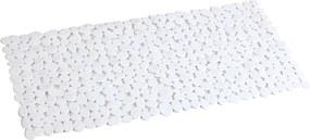 Covor antiderapant dreptunghiular 88x40cm din PVC alb AWD02090806