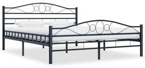 285291 vidaXL Cadru de pat, negru, 200 x 200 cm, oțel