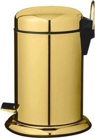 Cos pentru Gunoi Gold, Metal, Ø22xH29,5 cm
