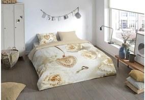 Lenjerie de pat din micropercal Muller Textiels Sunna, 140 x 200 cm