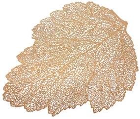 Suport farfurii 30x45cm frunza cupru Glamour