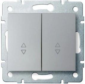 Kanlux Logi 25192 Comută întrerupătoare argintiu
