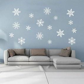 GLIX Snowflakes - autocolant de perete Alb 50 x 35 cm