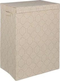 Cos rufe textil maro model geometric 40 cm x 30 cm x 60 h