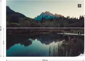 Fototapet GLIX - Sunset Reflections + adeziv GRATUIT Tapet nețesute - 254x184 cm