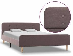 284920 vidaXL Cadru de pat, gri taupe, 120 x 200 cm, material textil