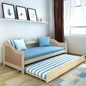 242954 vidaXL Cadru pat canapea, extensibil, 90 x 200 cm, lemn de pin