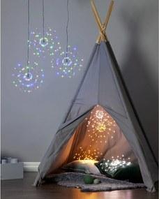 Decorațiune luminoasă cu LED suspendată Best Season Hanging Firework Dark Rainbow, 60 lumini