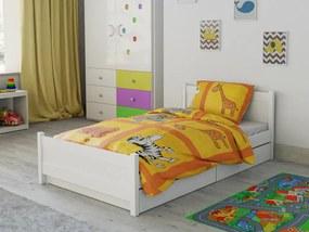 Petr Smolka Lenjerie de pat bumbac pentru pătut Animale africane portocaliu