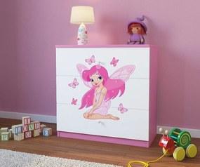 Dulap cu sertare pentru copii Ourbaby Fairy Leonka piept de sertare - Zana Leonka