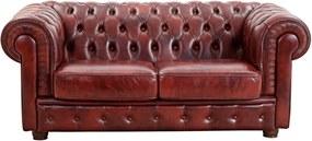Canapea din piele cu 2 locuri Max Winzer Bridgeport, roșu