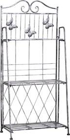 Outsunny Ghiveci de Rastel cu 3 Rafturi de Gradina Balcon Intern, Gri Argintiu, 44 x 25 x96cm