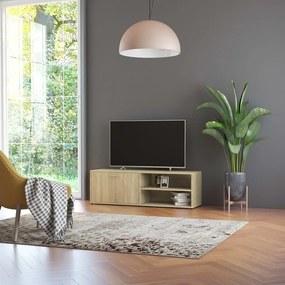 801155 vidaXL Comodă TV, stejar Sonoma, 120 x 34 x 37 cm, PAL