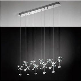 Pendul Eglo Pianopoli, 10x 2,5W, colectia Avantgarde, Crom, Cristal