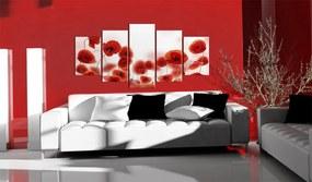 Tablou Bimago - Red Rings 100x50 cm