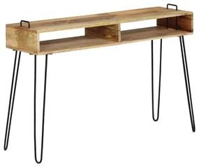 246022 vidaXL Masă consolă, 115 x 35 x 76 cm, lemn masiv de mango