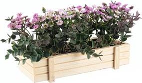 Flori artificiale mov in jardiniera 23x9x14h