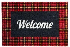 """Covoras intrare  """"Welcome Pattern"""" - Negru/Rosu"""