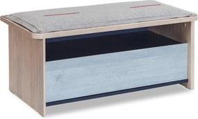 Bancheta din PAL cu spatiu pentru depozitare Trio 93x43x43 cm