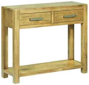 284267 vidaXL Masă consolă, 83 x 30 x 73 cm, lemn de stejar rustic
