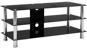 280092 vidaXL Comodă TV, negru, 90x40x40 cm, sticlă securizată