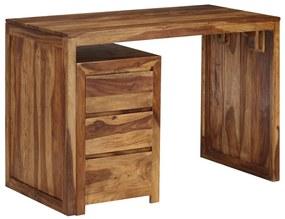 246216 vidaXL Masă de scris, lemn masiv de sheesham, 110 x 55 x 76 cm