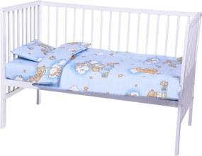 Lenjerie patut cu 3 piese Sleepy Teddy Bear Blue 006